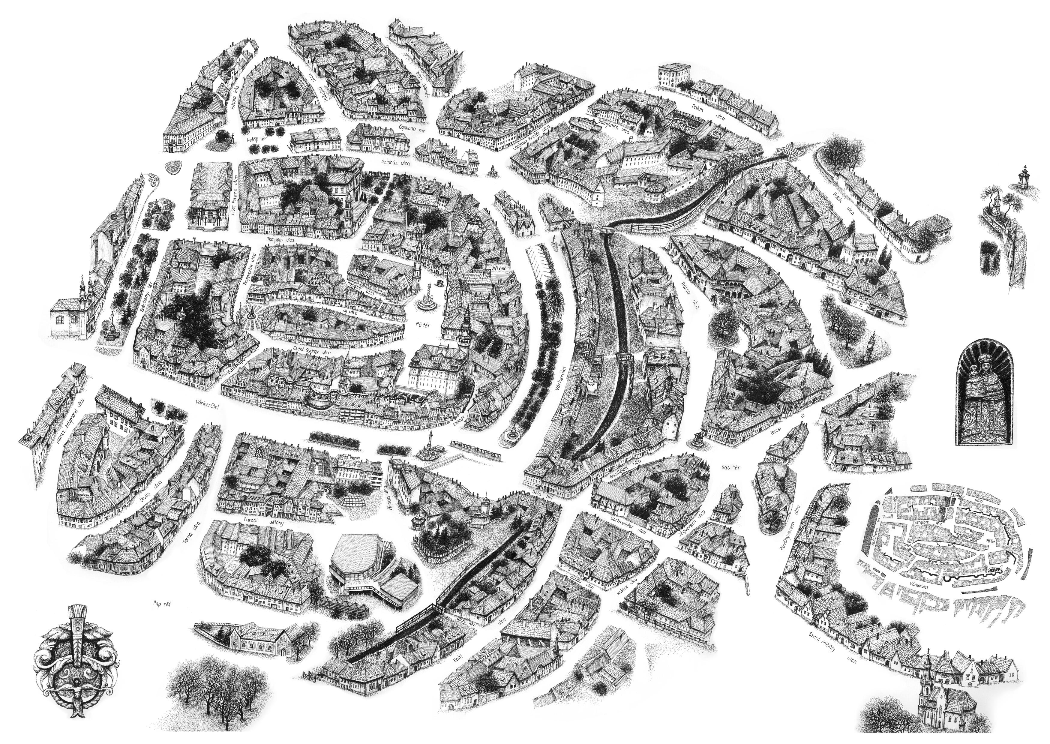 sopron térkép látnivalókkal Sopron